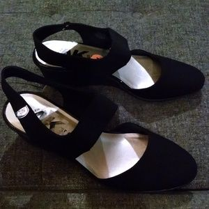 "Anne Klein Sport Black ""Cherry"" Wedges"
